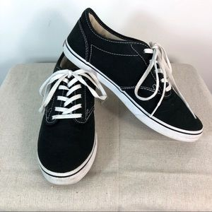 Vans Off The Wall Sneakers Black Tennis Shoes Sz 8